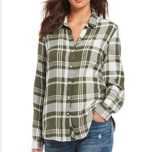Lucky Brand Plaid Print Long Sleeve Women's Shirt